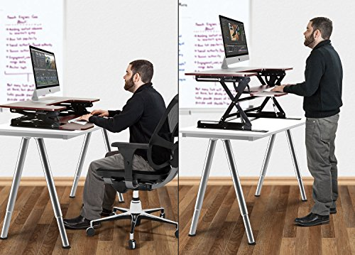 desk up urbanwalnut model desks and adjustable workstations sitting right sit stand standing shop freedom energizext